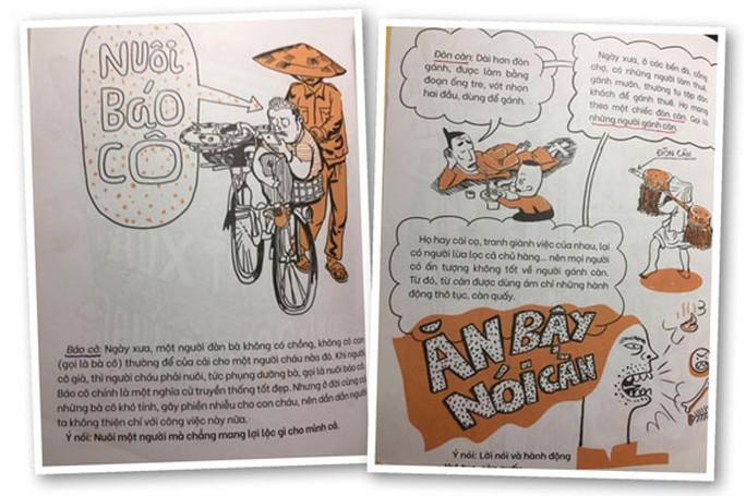 NXB Kim Đồng dừng phát hành Thành ngữ bằng tranh do nhiều sai sót - Ảnh 1.