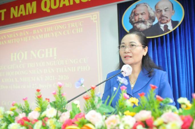TP HCM: Ứng cử viên Nguyễn Thị Lệ tiếp xúc cử tri huyện Củ Chi - Ảnh 1.