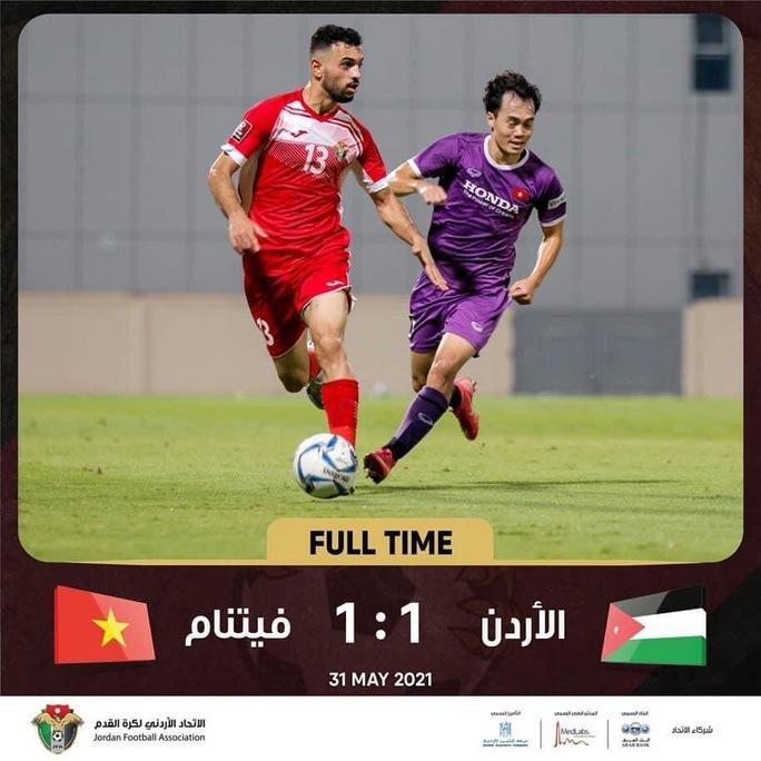 Không đoán được tuyển Việt Nam sau trận giao hữu hòa Jordan 1-1 - Ảnh 1.
