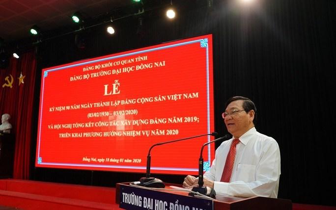 Kỷ luật cách chức Hiệu trưởng Trường ĐH Đồng Nai - Ảnh 1.