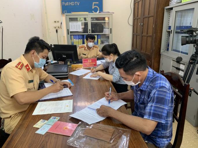 Phòng CSGT Công an tỉnh đã xác minh làm rõ và xử lý nghiêm đối với người vi phạm
