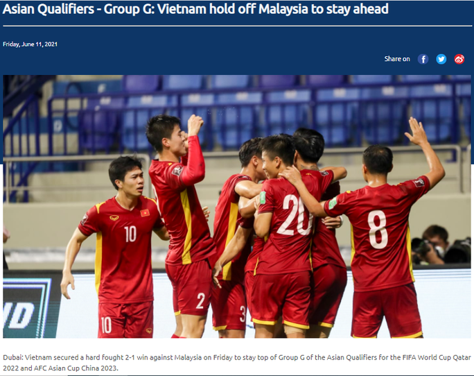 Truyền thông châu Á ngợi khen chiến thắng của Việt Nam trước Malaysia - Ảnh 1.