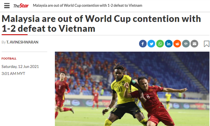 Báo chí Thái Lan, Malaysia ấn tượng với chiến thắng của tuyển Việt Nam - Ảnh 1.