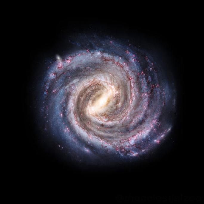 Bị vòng kim cô siết chặt, thiên hà chứa Trái Đất quay chậm lại - Ảnh 1.