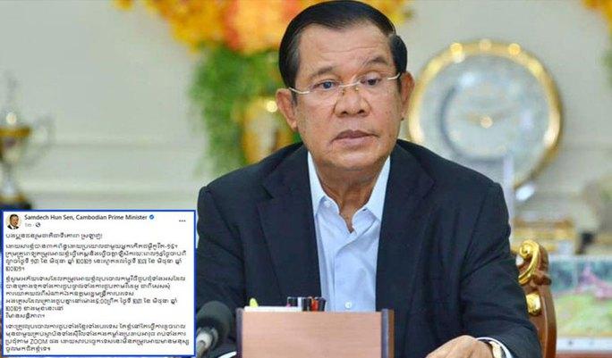 Covid-19: Thủ tướng Hun Sen cách ly 14 ngày - Ảnh 1.