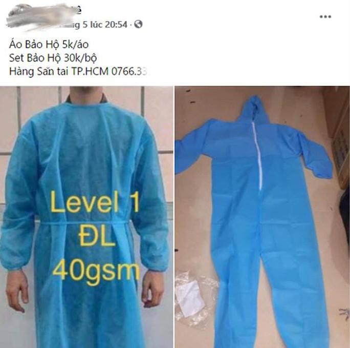 Quần áo bảo hộ y tế giá rẻ bán đầy chợ mạng - Ảnh 2.