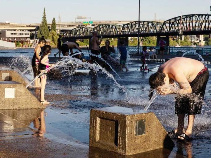 Cận cảnh dân Mỹ - Canada quay cuồng trong nắng nóng - Ảnh 1.
