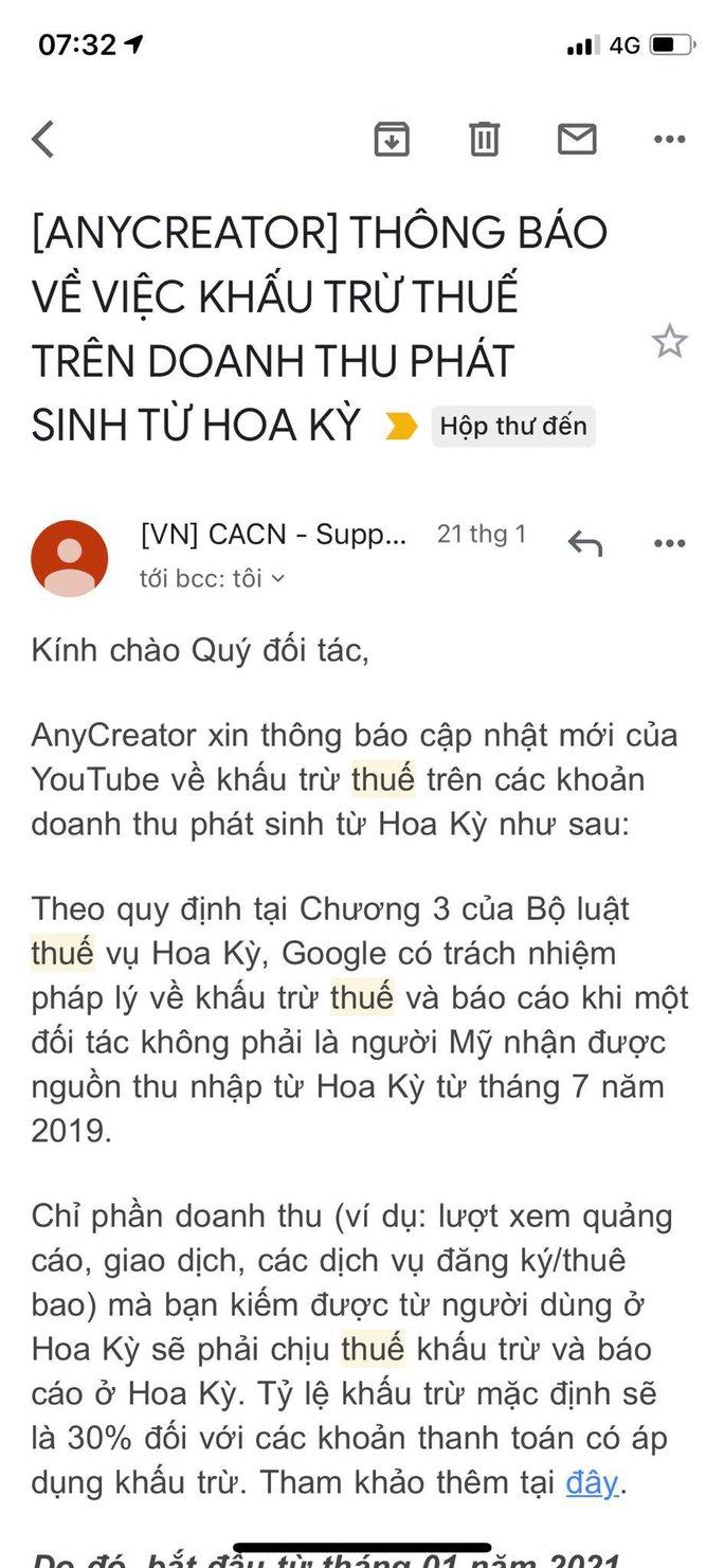 YouTuber ở Việt Nam bị đánh thuế tại Mỹ - Ảnh 1.