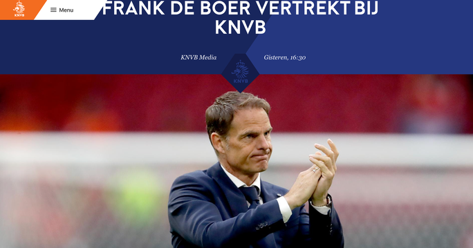 Hà Lan bị loại, KNVB chính thức sa thải HLV Frank de Boer - Ảnh 1.