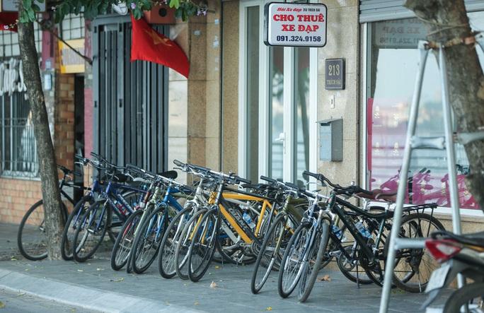 CLIP: Dịch vụ cho thuê xe đạp ở hồ Tây kiếm tiền triệu mỗi ngày - Ảnh 3.