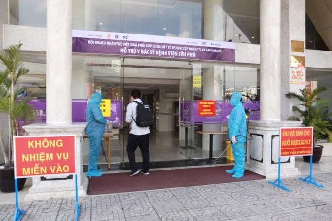 Hội Doanh nhân trẻ Việt Nam, TTC, Sacombank cùng sở Y tế TP HCM tiếp sức tuyến đầu chống dịch - Ảnh 2.