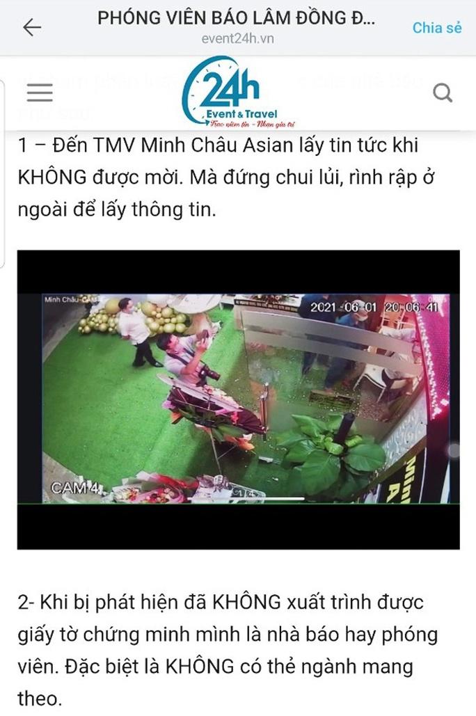 Lâm Đồng: Đề nghị xử lý trang thông tin điện tử xúc phạm phóng viên  - Ảnh 1.