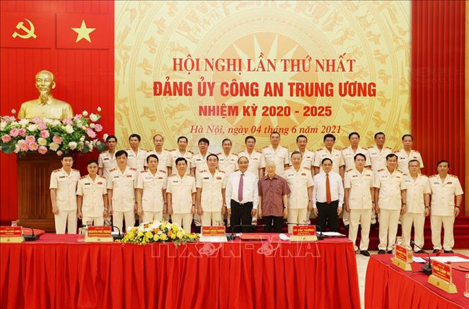 Chùm ảnh: Tổng Bí thư dự Lễ công bố Đảng ủy Công an Trung ương nhiệm kỳ mới - Ảnh 11.