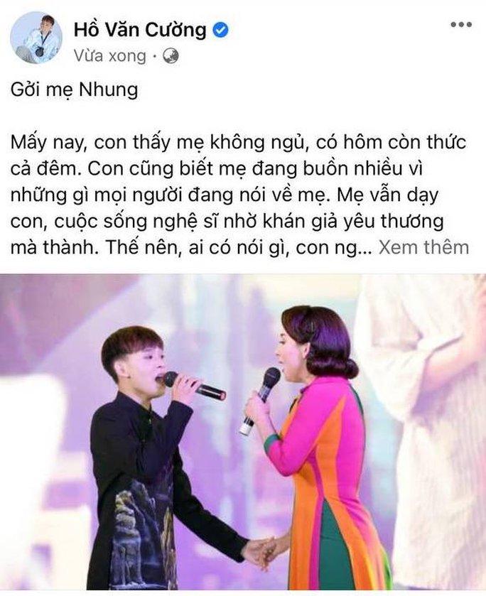 Hồ Văn Cường viết tâm thư gửi mẹ nuôi Phi Nhung giữa thị phi - Ảnh 1.