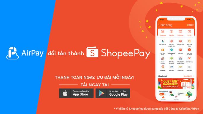 Ví AirPay đổi tên thành ShopeePay, gia tăng nhận diện thương hiệu - Ảnh 1.