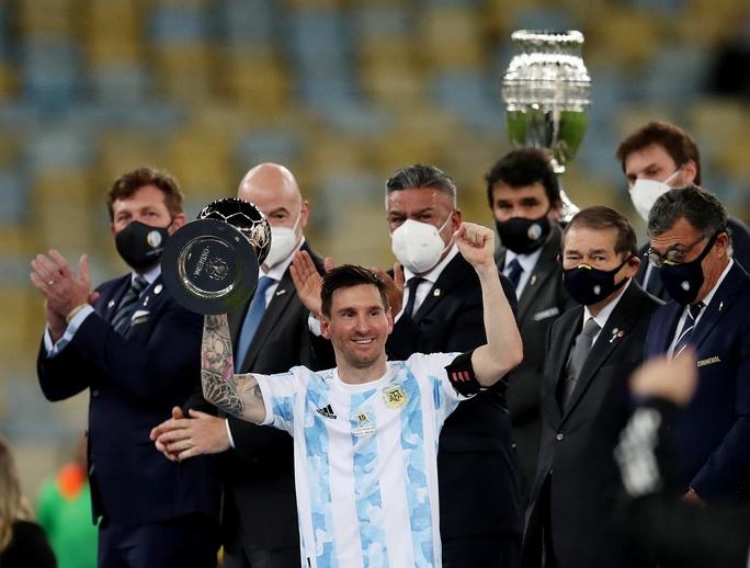 Copa America 2021: Brazil gục ngã ở sân nhà, Lionel Messi lần đầu vô địch cùng Argentina - Ảnh 9.
