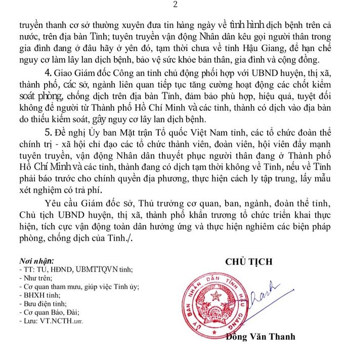 Tân Bí thư Hậu Giang kiểm tra thực tế, 7 địa phương khẩn trương dập dịch Covid-19 - Ảnh 4.