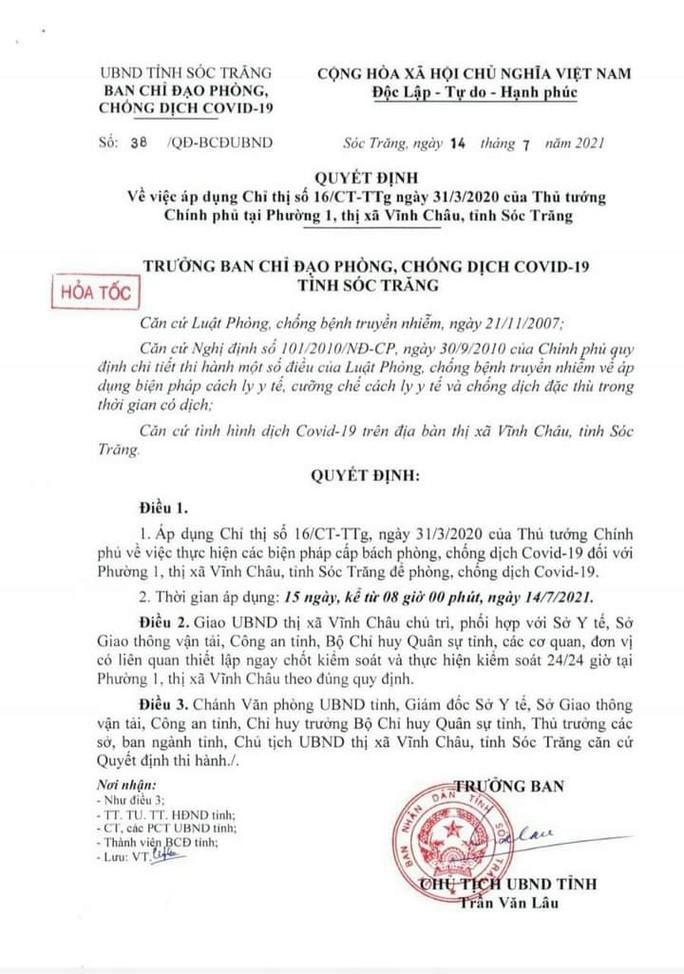 Tân Bí thư Hậu Giang kiểm tra thực tế, 7 địa phương khẩn trương dập dịch Covid-19 - Ảnh 7.