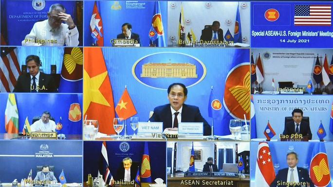 Hội nghị trực tuyến đặc biệt Bộ trưởng Ngoại giao ASEAN-Mỹ - Ảnh 3.