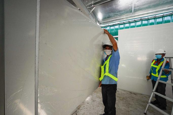 Toàn cảnh đại công trường xây dựng 2 bệnh viện dã chiến hơn 7.000 gường tại TP HCM - Ảnh 11.