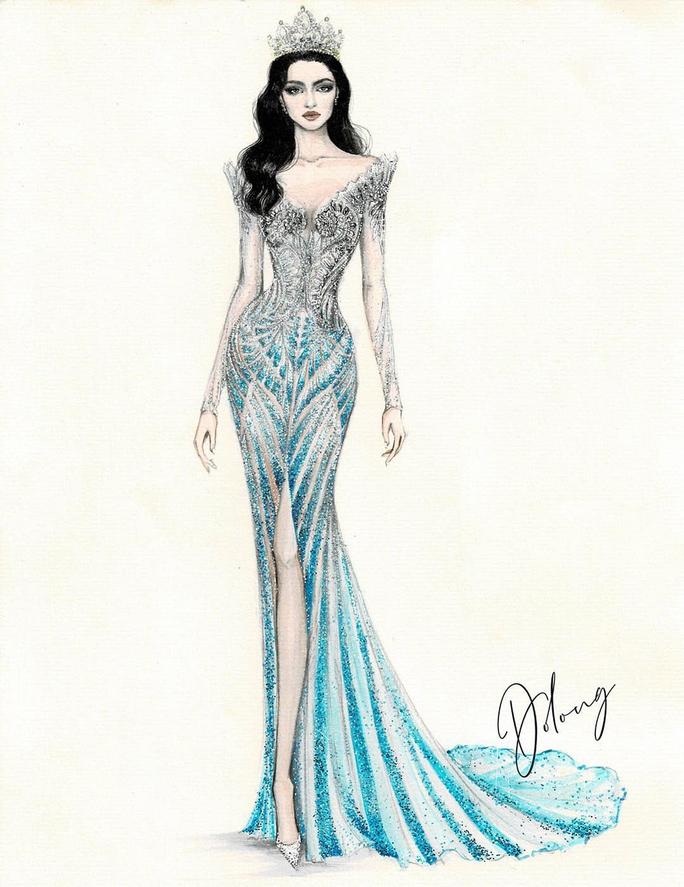 Đỗ Thị Hà trang phục thế nào tại cuộc thi Hoa hậu Thế giới 2021? - Ảnh 4.