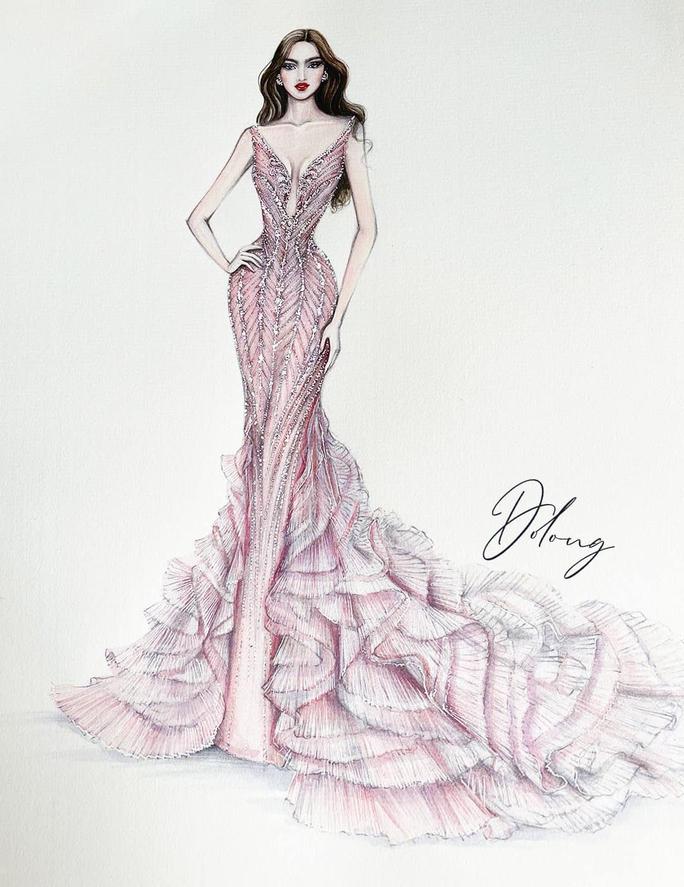 Đỗ Thị Hà trang phục thế nào tại cuộc thi Hoa hậu Thế giới 2021? - Ảnh 3.