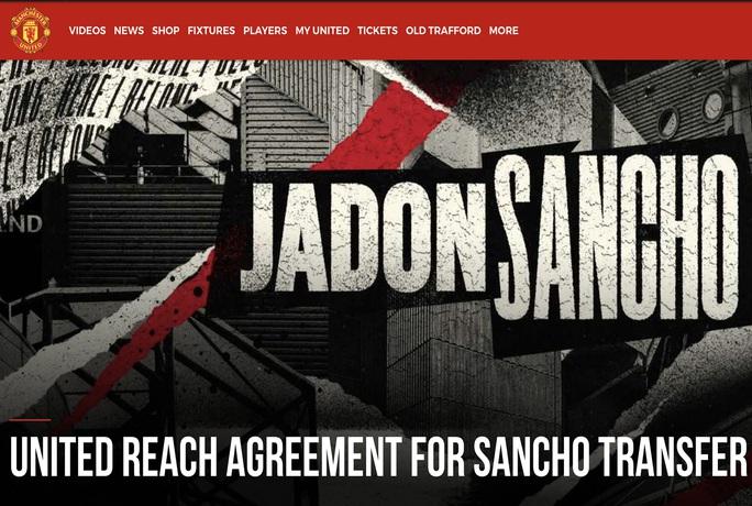 Man United cao tay, mua Jadon Sancho với giá rẻ như cho - Ảnh 1.