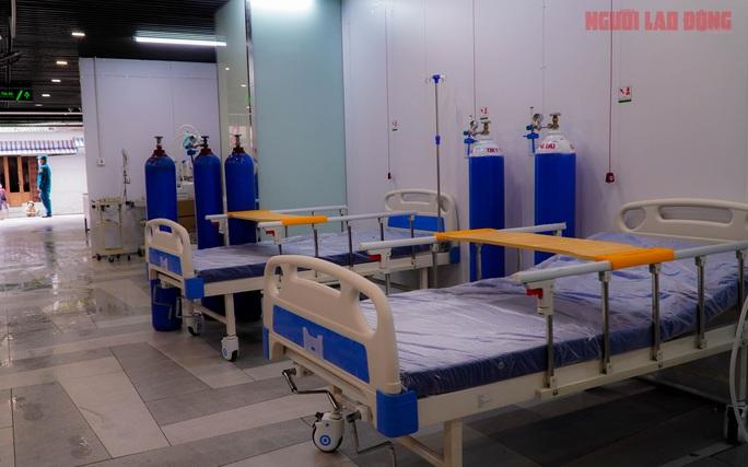 Toàn cảnh Bệnh viện dã chiến số 5 ở Thuận Kiều Plaza trước ngày hoạt động - Ảnh 7.