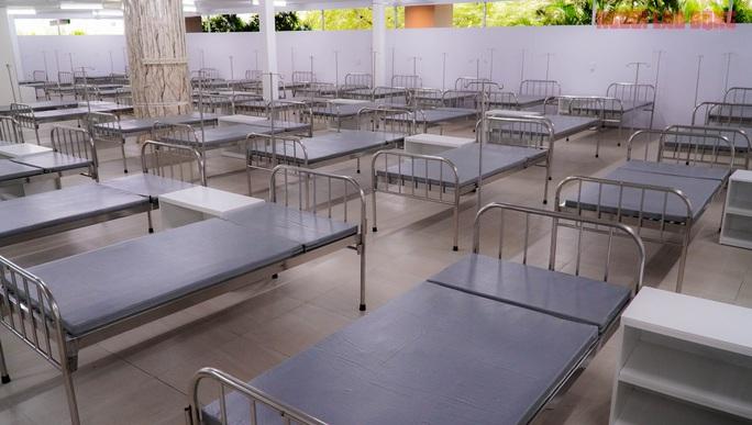 Toàn cảnh Bệnh viện dã chiến số 5 ở Thuận Kiều Plaza trước ngày hoạt động - Ảnh 3.