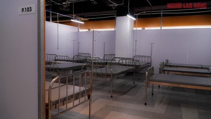 Toàn cảnh Bệnh viện dã chiến số 5 ở Thuận Kiều Plaza trước ngày hoạt động - Ảnh 4.