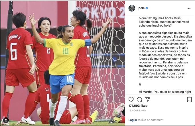 Lập kỷ lục ghi bàn tại Olympic, nữ siêu nhân Marta được Pele ca ngợi - Ảnh 4.