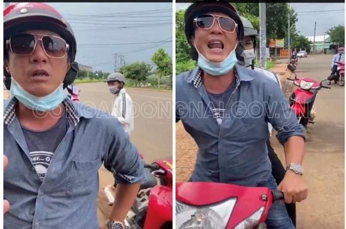 Nam thanh niên chửi bới, đạp cảnh sát ở chốt kiểm soát dịch tại Đồng Nai là ai? - Ảnh 1.