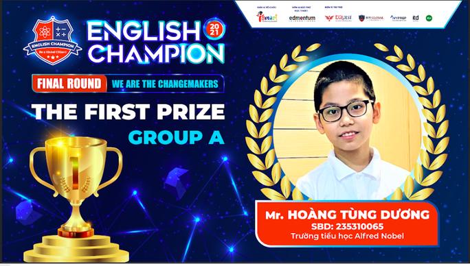 Nam sinh TPHCM giành ngôi quán quân English Champion 2021 - Ảnh 2.