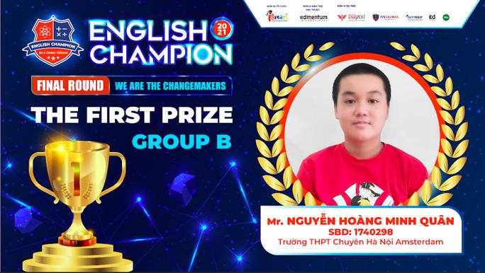 Nam sinh TPHCM giành ngôi quán quân English Champion 2021 - Ảnh 3.