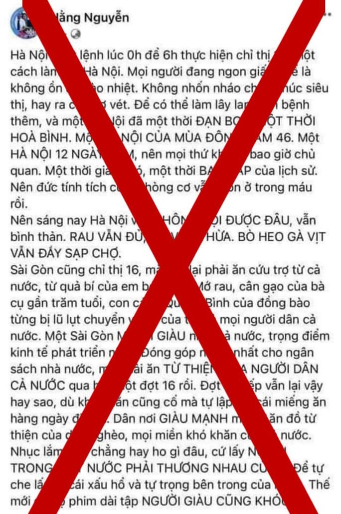 Thanh tra Sở Thông tin và Truyền thông TP HCM mời chủ tài khoản Facebook Hằng Nguyễn lên làm việc - Ảnh 1.