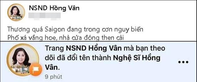 Fanpage gỡ danh hiệu NSND, Hồng Vân bị tước danh hiệu sau hàng loạt điều tiếng? - Ảnh 7.