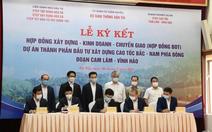 Ký hợp đồng xây dựng cao tốc Bắc - Nam phía Đông đoạn Cam Lâm – Vĩnh Hảo - Ảnh 1.