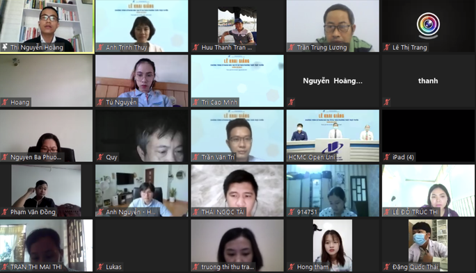 Khai giảng trực tuyến cho 524 sinh viên học cử nhân trực tuyến - Ảnh 1.