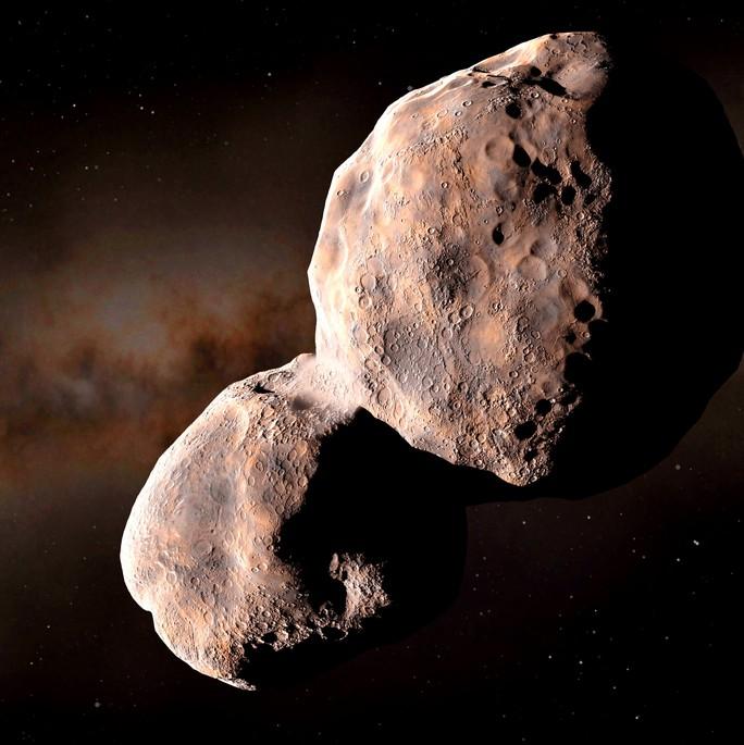 Tiểu hành tinh đỏ mang vật liệu sinh học xâm nhập từ ngoài Hệ Mặt Trời - Ảnh 1.