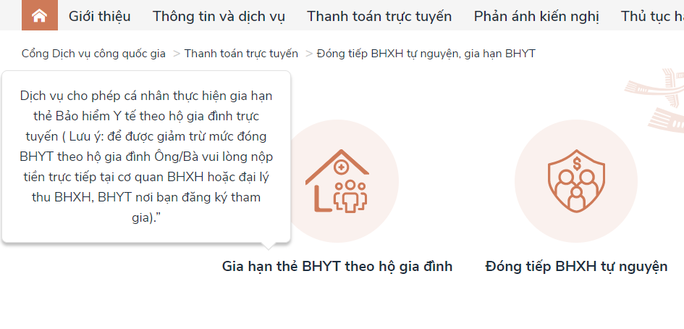 Cách gia hạn thẻ bảo hiểm y tế hộ gia đình online  - Ảnh 2.