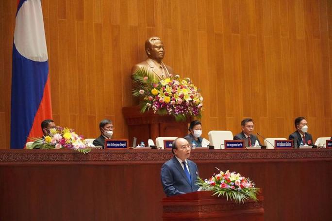 Chủ tịch nước Nguyễn Xuân Phúc phát biểu tại Kỳ họp Quốc hội Lào - Ảnh 1.
