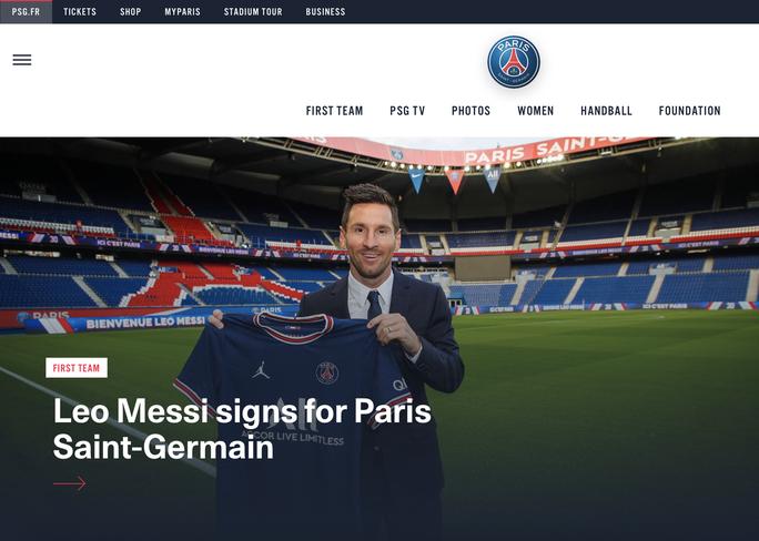 PSG ký hợp đồng bom tấn, tân binh Lionel Messi nhận số áo 30 - Ảnh 1.