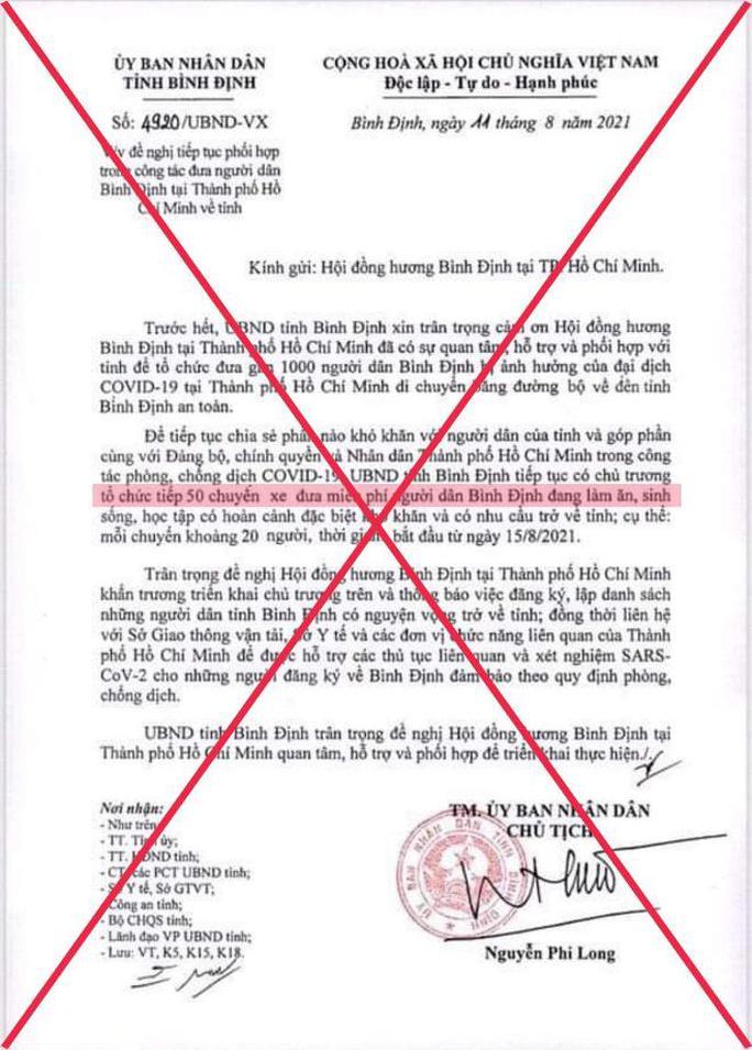 Xuất hiện văn bản giả mạo chữ ký chủ tịch tỉnh Bình Định trên mạng xã hội - Ảnh 2.