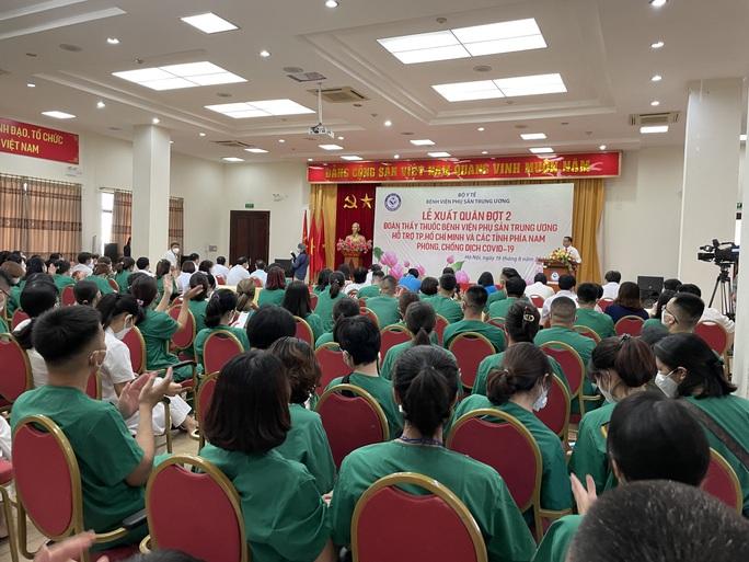 122 thầy thuốc Bệnh viện Phụ sản Trung ương lên đường vào miền Nam hỗ trợ chống dịch Covid-19 - Ảnh 6.
