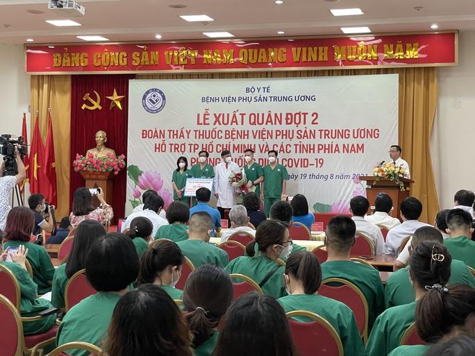 122 thầy thuốc Bệnh viện Phụ sản Trung ương lên đường vào miền Nam hỗ trợ chống dịch Covid-19 - Ảnh 5.