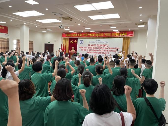 122 thầy thuốc Bệnh viện Phụ sản Trung ương lên đường vào miền Nam hỗ trợ chống dịch Covid-19 - Ảnh 4.