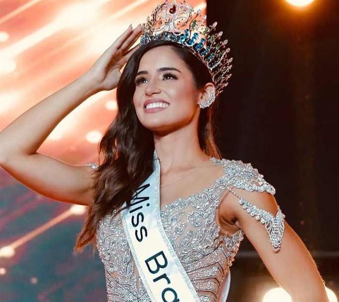 Đường cong bốc lửa của tân Hoa hậu Thế giới Brazil - Ảnh 1.