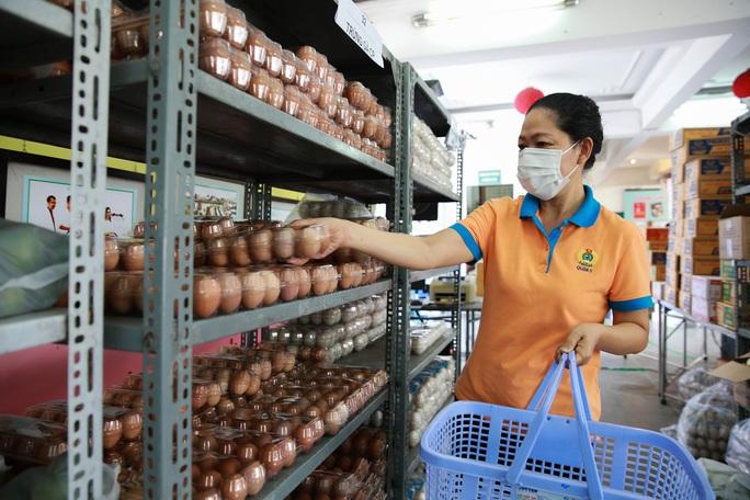 Bên trong siêu thị dã chiến cung ứng thực phẩm cho người đi chợ hộ - Ảnh 5.