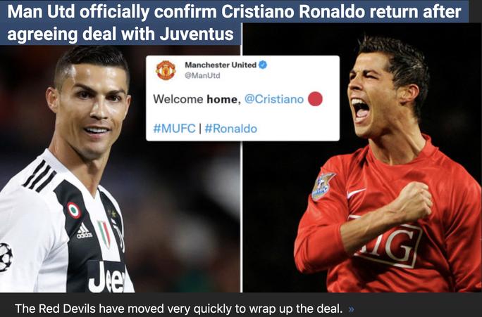 Ronaldo trở lại, Man United thắng đậm cổ phiếu, tăng thêm 1 triệu fan - Ảnh 1.