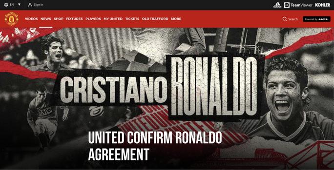 Ronaldo tái hợp Man United: Truyền thông thế giới việt vị, trang chủ Quỷ đỏ sập nguồn - Ảnh 1.